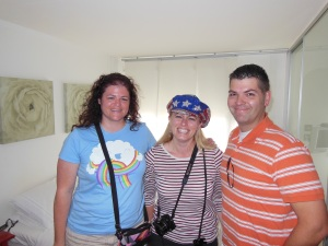 Traveling Dukes: (l-r) Liz Hadley, Jennifer Philips Bost and Jimmy Bost