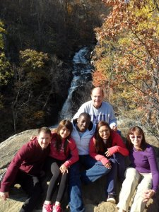 Oumar and friends in the Shenandoah National Park