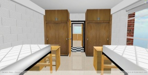 Double room in Shorts Hall