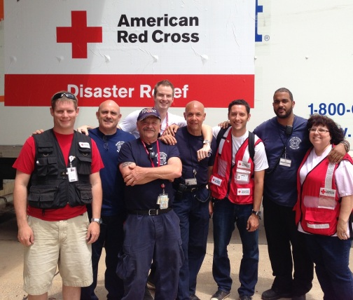 Jon McNamara (third from right) and NYC's Disaster Response Team