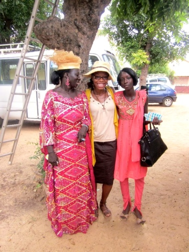 Lyzz Ogunwo ('08)(center) and some of her Sengalese friends