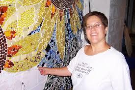 Mosaic artist Sarah Swanlund