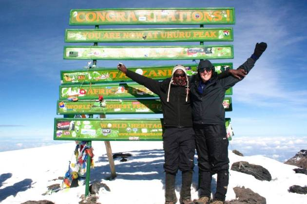 On top of Kilimanjaro