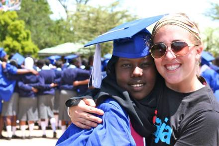 Sara Jo and new Daraja graduate Leila