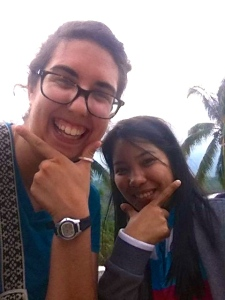 Michelle Taylor ('13) and a Filipino friend
