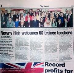Twelve JMU practicum students welcomed to Northern Ireland