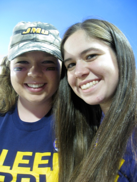 Annamarie Frost ('13) (left) and her once-unknown roommate who became a friend.