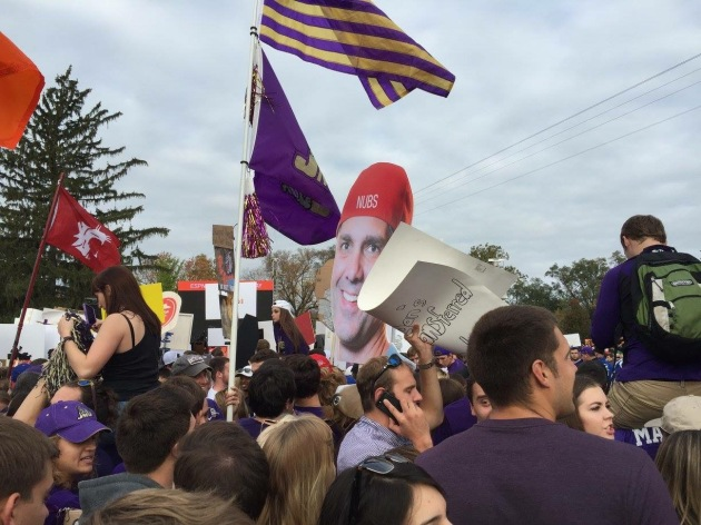 A sea of Dukes, savoring College GameDay