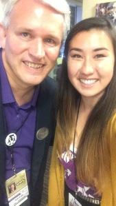 Katrina Seaver ('17) grabbed a selfie with President Alger